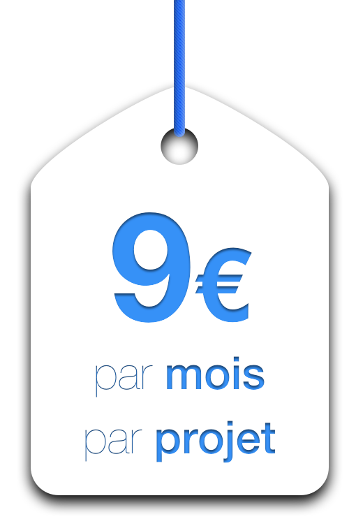 9€ per project per month